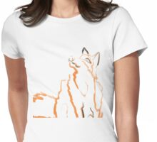 Fox Blind Contour Womens Fitted T-Shirt