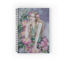 Wild rose fairy faerie fantasy Spiral Notebook