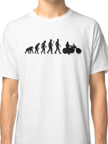 Evolution of Man Motorcycle Classic T-Shirt
