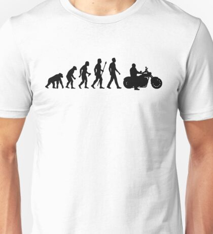Evolution of Man Motorcycle Unisex T-Shirt