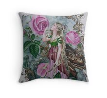 Pink fairy faerie fantasy  Throw Pillow