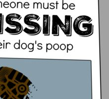 Missing Dog Poop Sticker