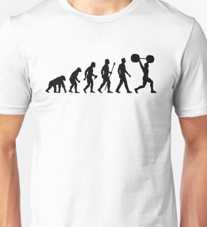 Funny Weightlifting Evolution Shirt Unisex T-Shirt