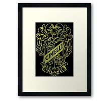 Cinelli Vintage Bicycles Milano Italy Framed Print