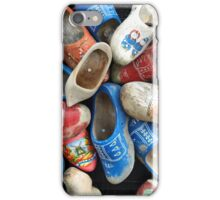 old dutch wooden shoes, colorful wooden shoes, klompen iPhone Case/Skin