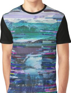 Mountains watch over an icy river Graphic T-Shirt