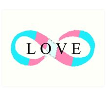 Infinite Love (transgender colors) Art Print