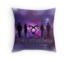 Shadowhunters to save the universe Throw Pillow
