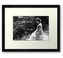 Bride By The Brook Framed Print
