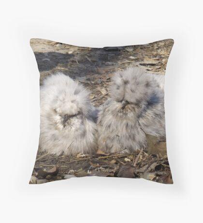 Silkie Buddies Throw Pillow