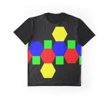 Net of a Truncated Octahedron Graphic T-Shirt