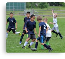 Youth Soccer Game Canvas Print