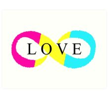 Infinite Love (pansexual colors) Art Print
