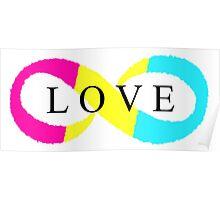 Infinite Love (pansexual colors) Poster