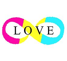 Infinite Love (pansexual colors) Photographic Print