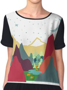 A forest opening  Chiffon Top