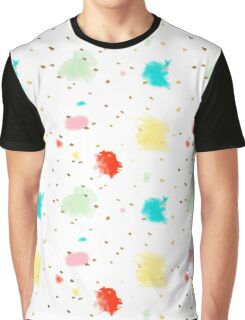 Cupcake Sprinkles, Dash of Gold Graphic T-Shirt