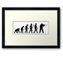 Funny Sniper Evolution Of Man Shirt Framed Print