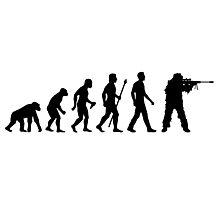 Funny Sniper Evolution Of Man Shirt Photographic Print