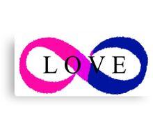 Infinite Love (bisexual colors) Canvas Print
