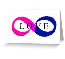 Infinite Love (bisexual colors) Greeting Card