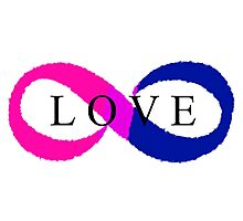 Infinite Love (bisexual colors) Photographic Print