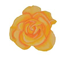 Yellow Rose, Keep Smiling. Photographic Print