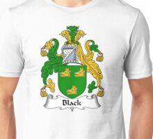 Black Coat of Arms / Black Family Crest Unisex T-Shirt