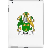 Black Coat of Arms / Black Family Crest iPad Case/Skin