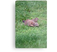 Out with Mommy Metal Print