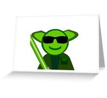 Yoda Shades Greeting Card