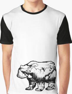 Landscape in a bear shape Graphic T-Shirt