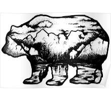 Landscape in a bear shape Poster