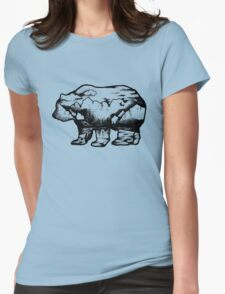 Landscape in a bear shape Womens Fitted T-Shirt