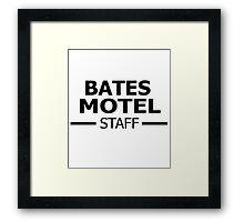 Bates Motel Staff Framed Print
