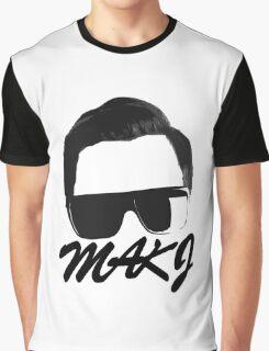 MAKJ BLACK Graphic T-Shirt