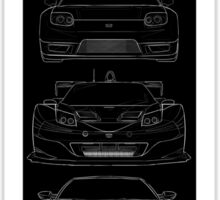 Generations OF NSX - Dark Poster/Sticker Sticker