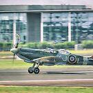 Supermarine Spitfire Tr Mk IX SM520 KJ-I by Nigel Bangert