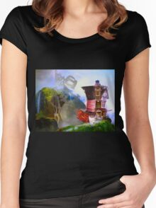Mad Hatter - Hatters House Women's Fitted Scoop T-Shirt