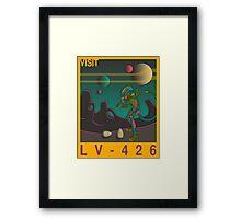 Visit LV-426 - Yellow Framed Print