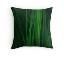 Tall Grass Close Up Throw Pillow
