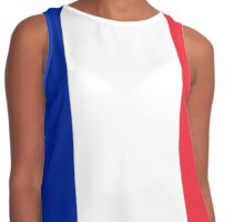 I Love France - Country Code FR T-Shirt & Sticker Contrast Tank