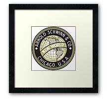 Schwinn vintage Bicycles Chicago USA Framed Print