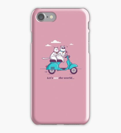 let's see the world! iPhone Case/Skin
