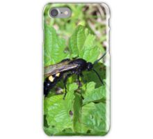 Black Bee With Yellow Stripes iPhone Case/Skin