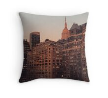 Empire State Building  at Sunset Throw Pillow