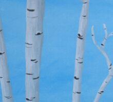 Birch Trees at Noon Sticker