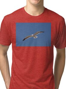 Seagull Gliding into the Wind Tri-blend T-Shirt