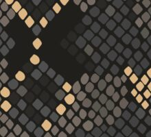 Snake skin artificial seamless texture. Sticker