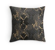 Snake skin artificial seamless texture. Throw Pillow